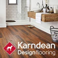 Effortlessly stylish, Karndean vinyl flooring is waterproof, kid proof and pet proof - stop by to see our selections!