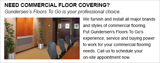 Put our experience, service and buying power to work for your commercial flooring needs!