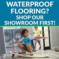 We have great pricing on waterproof flooring - stop by our showroom today!